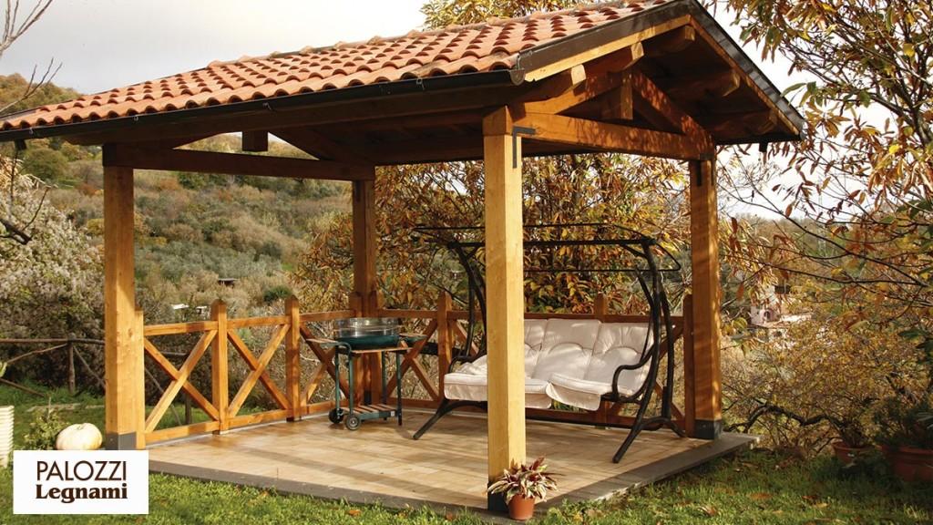 Costruzione gazebo in legno for Gazebo legno arredamento