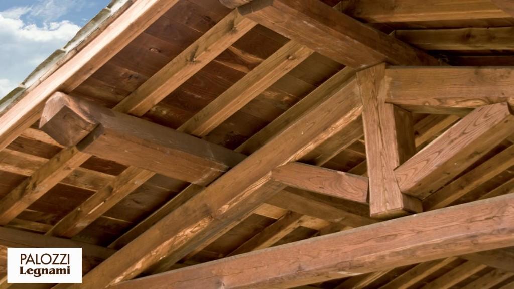 Tetto in legno intini legno design regarding tetto legno for Tettoia inclinata del tetto