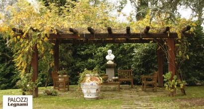 Pergolato da giardino in castagno
